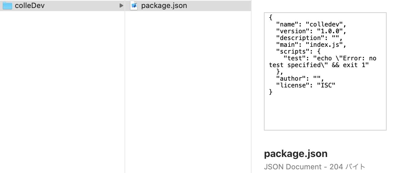 npmでpackage.jsonを作る